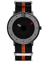 SINOBI Fashion Watch Water Resistant / Water Proof Shock Resistant Quartz Fabric Band Casual Luxury Black
