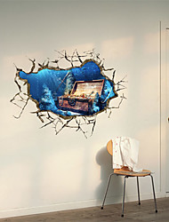 cheap -3D Wall Stickers Treasure Lake Hole PVC Material Decorative Skin Wall Stickers