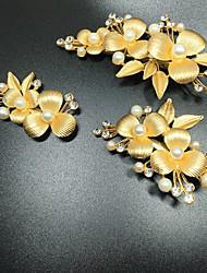 economico -pettini per capelli in lega di perle di cristallo stile classico femminile