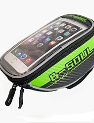 Bolsa para Cuadro de Bici Bolso del teléfono celular 5.7 pulgada Listo para vestir Móvil/Iphone Pantalla táctil Ciclismo para Samsung