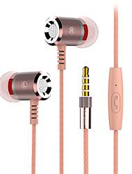 2017 New Langsdom M400 Metal Heavy bass headphones with mircophone Thread line stereo music earphone for iphone samsung huawei xiaomi