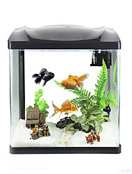 cheap -Mini Aquariums Background Noctilucent Energy Saving Plastic