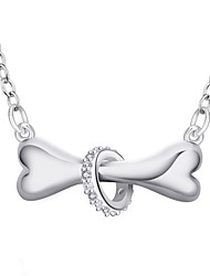 Femme Pendentif de collier Colliers chaînes Zircon cubique Forme Géométrique Zircon Cuivre Plaqué argentOriginal Pendant Amour Cœur