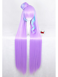 cheap -110cm Long Straight Pink Blue Mixed Macross Mikumo Guynemer Synthetic Anime Cosplay Wigs1Ponytail CS-291A
