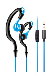 cheap -KM-R02 In Ear Neck Band Wired Headphones Dynamic Plastic Sport & Fitness Earphone with Microphone Noise-isolating Headset