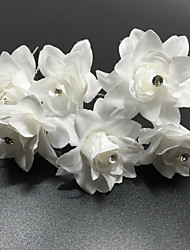 6 Pieces Women's Lace Imitation Pearl Chiffon Headpiece-Wedding Special Occasion Casual Office & Career Flowers Hair Pin Hair Stick