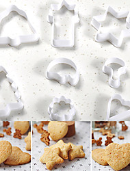 cheap -Bakeware tools Plastic Halloween / Christmas / Wedding For Cake / For Cookie / For Chocolate Mold 8pcs