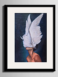 E-HOME® Framed Canvas Art Wings and Women Framed Canvas Print One Pcs