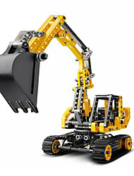 cheap -Building Blocks Excavator Toys Excavating Machinery Plastic Boys' Girls' 1 Pieces