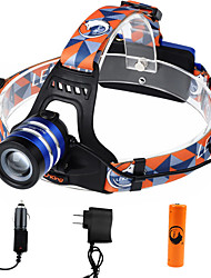 U'King Headlamps Headlight LED 1000 lm 3 Mode Cree XM-L T6 with Battery and Chargers Zoomable Adjustable Focus Easy Carrying High Power