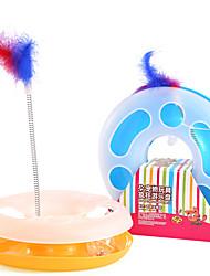 preiswerte -Katzenspielsachen Haustierspielsachen Interaktives Teaser Federnspielzeug Rohre & Tunnel Maus-Spielzeug Cartoon Design Bällebahn