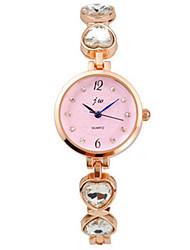 Da donna Orologio braccialetto Quarzo / Acciaio inossidabile Banda Vintage Oro Nero Rosa Azzurro chiaro