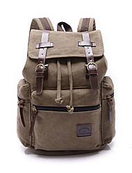 Unisex Bags Canvas School Bag for Shopping Casual Sports Outdoor Office & Career Professioanl Use All Seasons Blue Brown Black Camel
