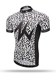 baratos -XINTOWN Homens Manga Curta Camisa para Ciclismo - Cinzento Moto Secagem Rápida, Respirável, Redutor de Suor