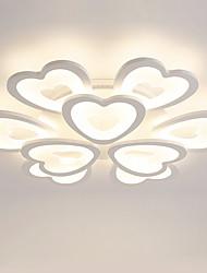 9 teste a forma di cuore a forma di design moderno stile acrilico semplicità luci plafoniera lampada metallo montaggio flush mount