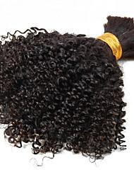 abordables -Cabello Brasileño Kinky Curly / Tejido rizado Cabello Virgen Tejidos Humanos Cabello 1 paquete 10-26pulgada Cabello humano teje Gran venta