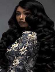 натуральный черный цвет тела волна бразильские человеческие волосы девственные Glueless полные парики шнурка с оптовой продажей волос