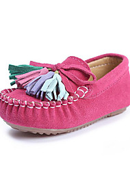 Girl'sLoafers & Slip-Ons Spring Summer Fall Moccasin Suede Outdoor Party & Evening Dress Casual Flat Heel Bowknot Tassel Pink Rose Pink Navy