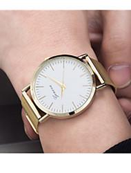 abordables -Hombre Cuarzo Reloj Deportivo / Gran venta Acero Inoxidable Banda Vintage Dorado