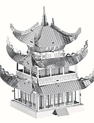 3D Puzzles Jigsaw Puzzle Metal Puzzles Toys Famous buildings Chinese Architecture Architecture 3D DIY Furnishing Articles Kids' Pieces