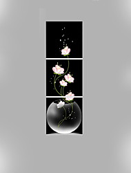 cheap -Canvas Set Floral/Botanical Modern Traditional,Three Panels Vertical Print Wall Decor For Home Decoration