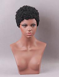 parrucca capelli bizzarro breve ricci umano