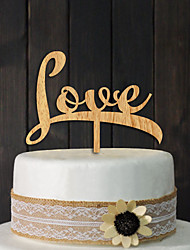 Europe and the United States sell wooden bridal wedding cake inserted card custom LOVE cake