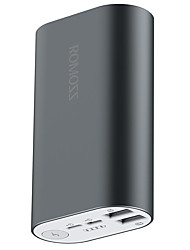 cheap -ROMOSS®  Power Bank 10000mAh A10 External Battery Pack 5V 2 USB Output for All Phones Tablet PC