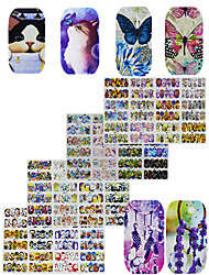 cheap -4pcs 48design Water Transfer Sticker Fashion Daily High Quality