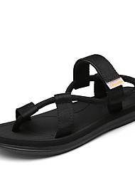 Men's Sandals Summer Gladiator PU Nylon Outdoor Casual Flat Heel Buckle