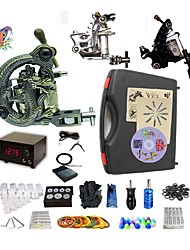 cheap -Professional Tattoo Kit 2 steel machine liner & shader 1 alloy machine liner & shader 3 Tattoo Machine Inks Not Included