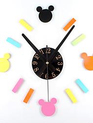 Classic Cartoon Fashion Creative Cartoon DIY Clock Fun Combination DIY Hanging Clock Mute