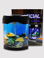 baratos -Baojie aquarium medusa lâmpada néon lights usb mini aquarium