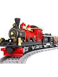 Недорогие -AUSINI Конструкторы 410 pcs Шлейф Cool Оригинальные Электрический Поезд Поезда и наборы железной дороги Мальчики Игрушки Подарок