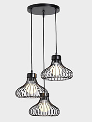 cheap -Pendant Light Ambient Light - Designers, Rustic / Lodge Vintage Retro, 110-120V 220-240V Bulb Not Included