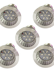 cheap -5pcs 3.5W 100lm E14 GU10 E27 Growing Light Bulb 6 LED Beads SMD 5730 Blue Red 85-265V