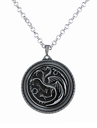 cheap -Men's / Women's Logo Pendant Necklace - Dragon, Animal Circular, Unique Design, Dangling Style Silver, Bronze Necklace Jewelry For