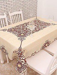 cheap -130x170cm Rectangular Embroidered Table Cloth Cutting Work Embroidery Tablecloth