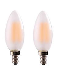 cheap -4W E14 E12 LED Filament Bulbs CA35 4 leds COB Dimmable Warm White 300-350lm 2700-3500K AC 220-240 AC 110-130V