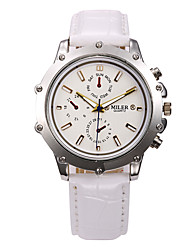 cheap -Men's Sport Watch Dress Watch Skeleton Watch Fashion Watch Wrist watch Quartz Genuine Leather Band Charm Casual Multi-Colored