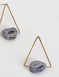 Drop Earrings Multi-stone Alloy Simple Style Blue Jewelry Daily Casual 1pc