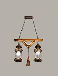 Rustique Rétro Globe Lustre Pour Salle de séjour Chambre à coucher Salle à manger AC 100-240V Ampoule non incluse