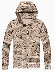 Men's Women's Unisex Long Sleeves Camouflage Hunting Jacket Waterproof Quick Dry Windproof Ultraviolet Resistant Breathable Sunscreen