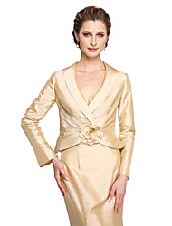 cheap -Taffeta Wedding Party Evening Women's Wrap With Draping Flower Coats / Jackets