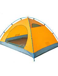 2 persone Tenda Doppio Tenda da campeggio Una camera Tende da campeggio formato famiglia Ompermeabile Anti-pioggia Traspirabilità