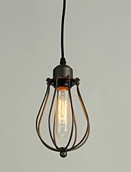cheap -Vintage Pendant Lights Loft Black Birdcage Dining Room pendant lights Bar Clothing Store Light Fixture