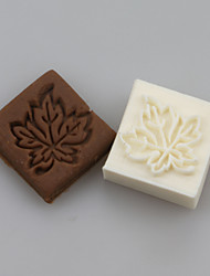 Maple leaves Shape DIY Handmade Soap Chapter Seals Tool Design