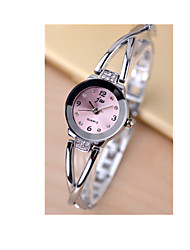 cheap -Women's Bracelet Watch / Simulated Diamond Watch Casual Watch / / Rose Gold Plated / Stainless Steel Band Charm Silver
