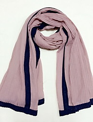 High Quality Linen ScarfParty Work Casual Rectangle Solid