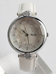 Women's Fashion Watch Quartz / PU Band Flower Casual White Brand